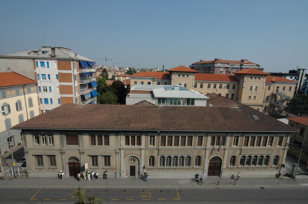 Bergamo - Ampliamento scuola d'Arte Andrea Fantoni - Vista aerea prima dei lavori