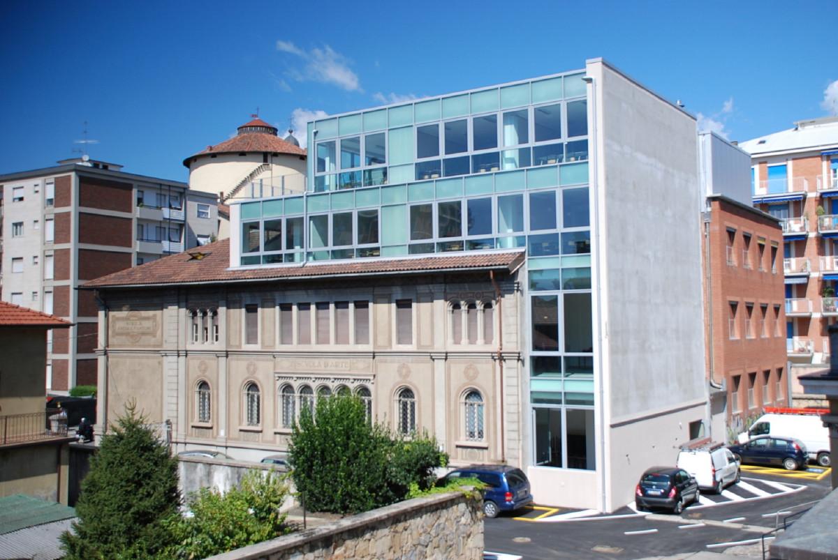 Bergamo - Ampliamento scuola d'Arte Andrea Fantoni - Vista dal cortle interno